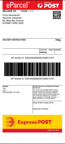WooCommerce-Australia-Post-Shipping-Label